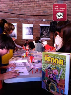 Bastim - El taller de cómic consistía en crear tu propia aventura de Little Renna.