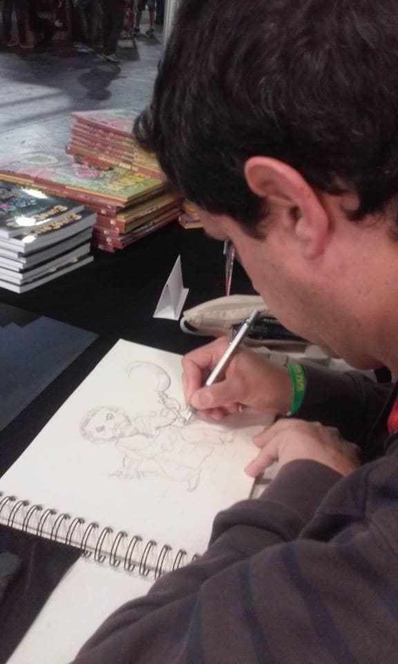 DaniZAR dibujando a Khal Drogo