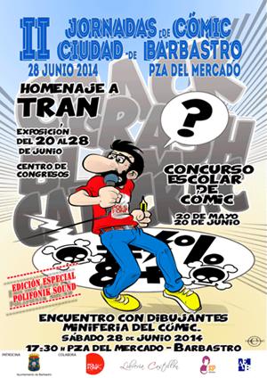 Cartel II Jornadas de cómic de Barbastro
