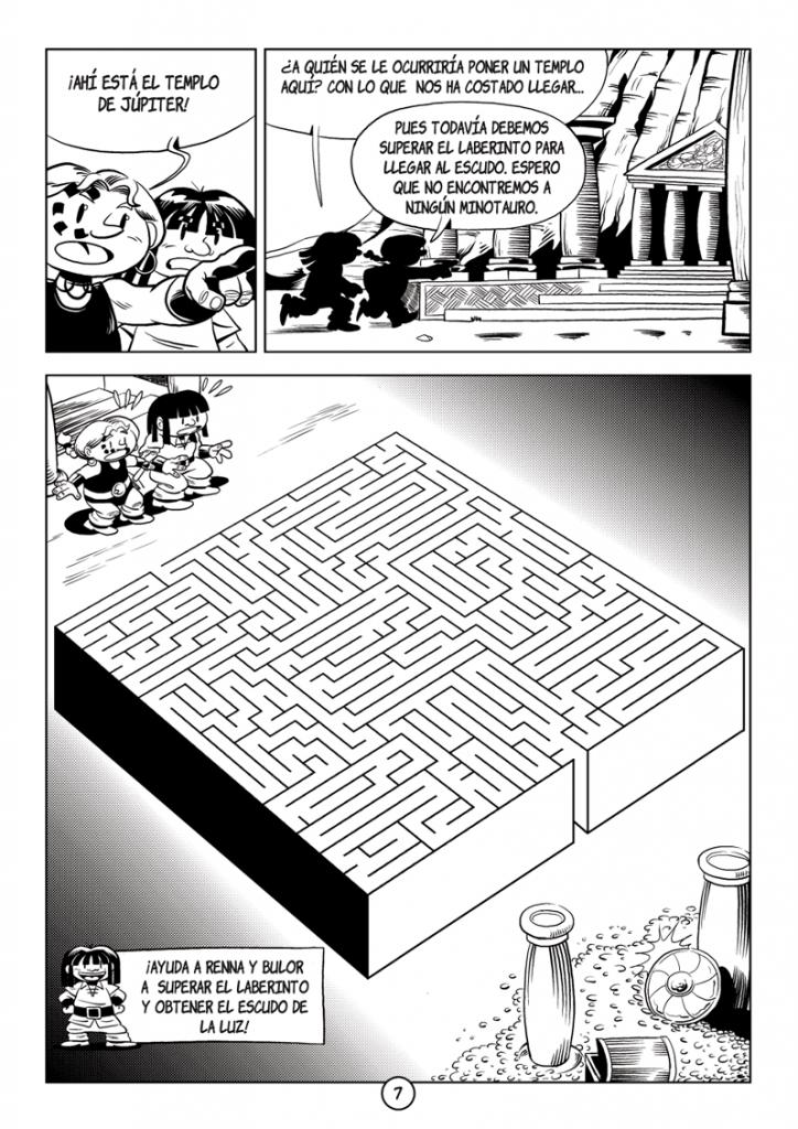 Página 7: Little Renna y el desafío de la gorgona