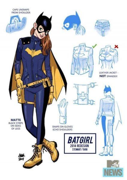 Rediseño del traje de Batgirl por Barb Tarr