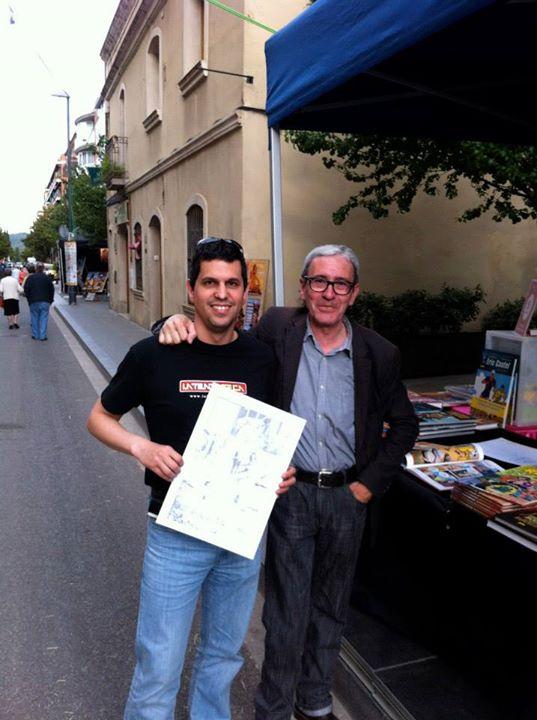 En el carrer del Còmic en Sant Cugat con Esteve Polls (gran profesional y mejor persona)