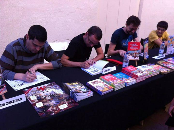 Sesión de firmas en Norma Còmics Sabadell (octubre 2014)