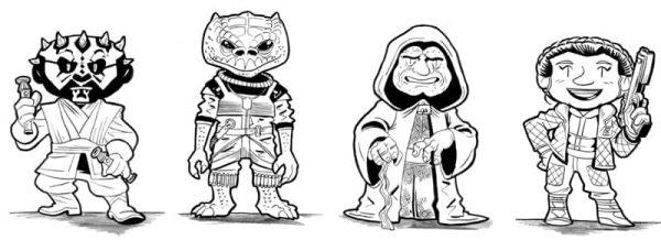 Personajes: Little Star Wars