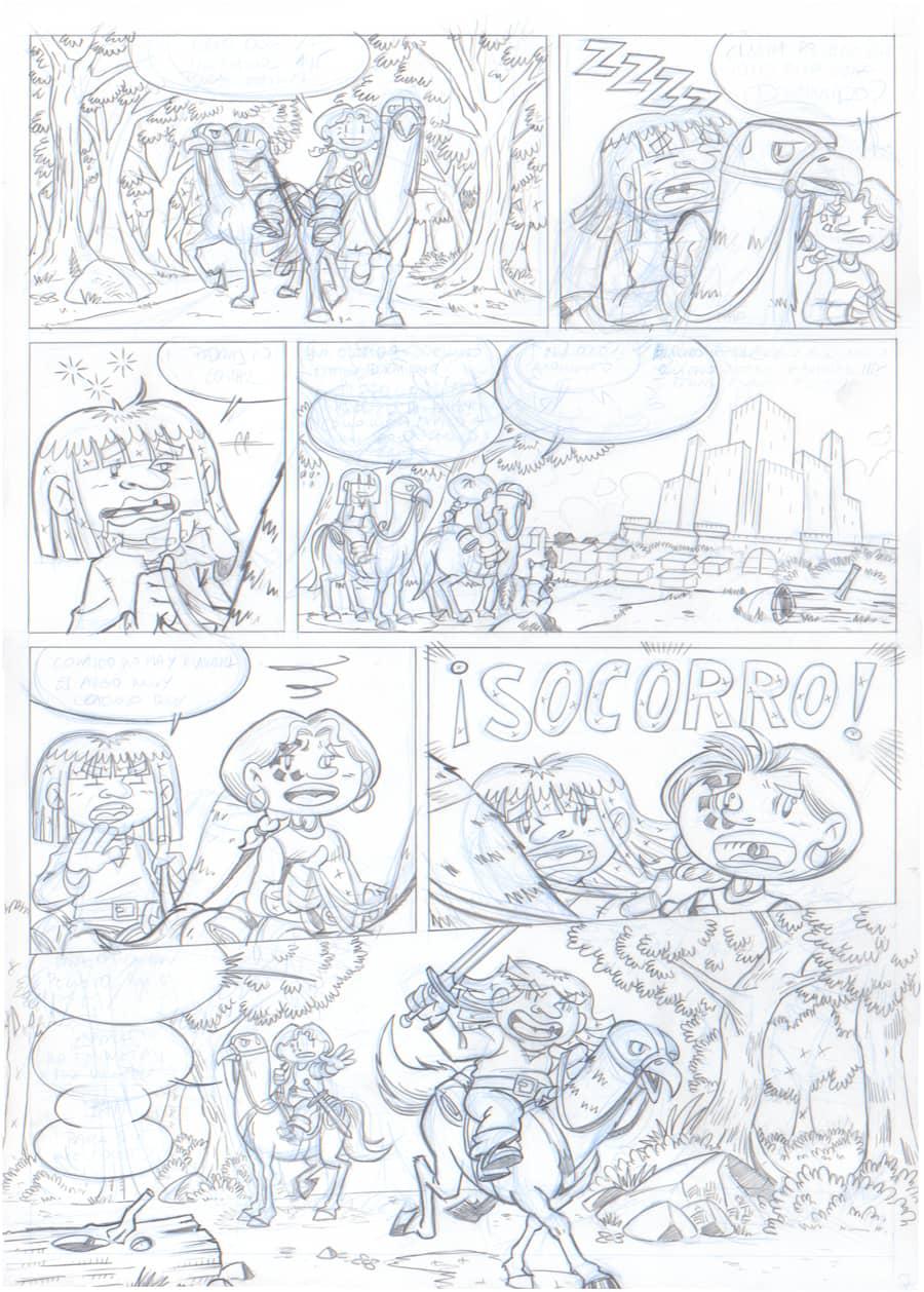 Lápiz - Página 7 - Renna y el Circo de los Dragones
