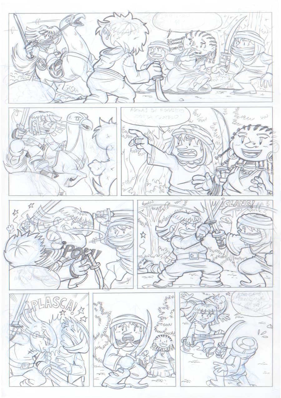 Lápiz - Página 8 - Renna y el Circo de los Dragones