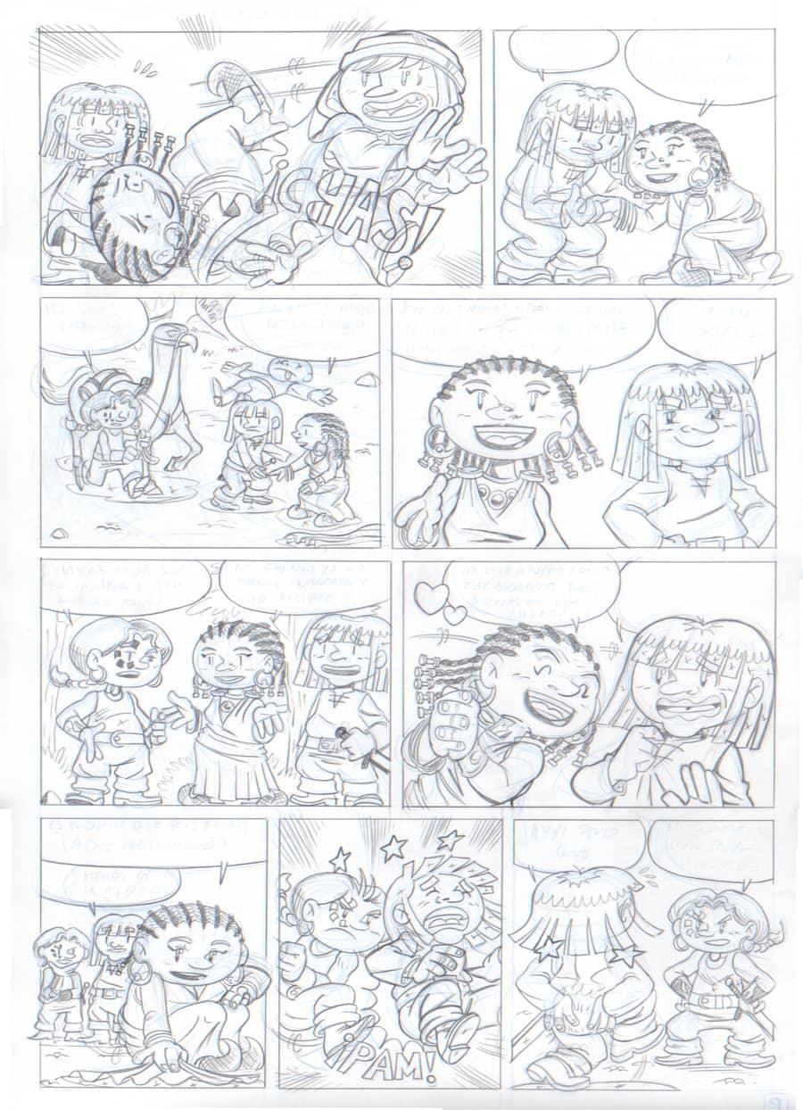 Lápiz - Página 9 - Renna y el Circo de los Dragones