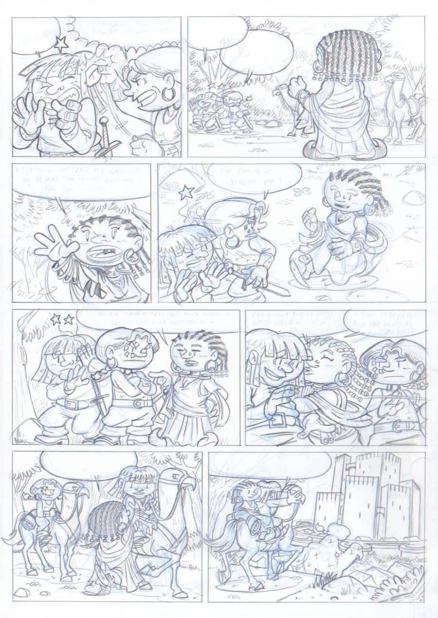 Lápiz - Página 10 - Renna y el Circo de los Dragones