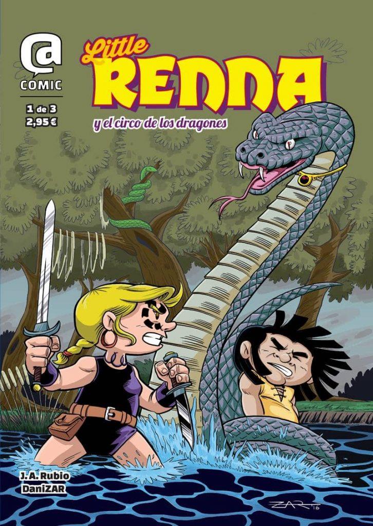 Portada - Little Renna y el Circo de los Dragones #1