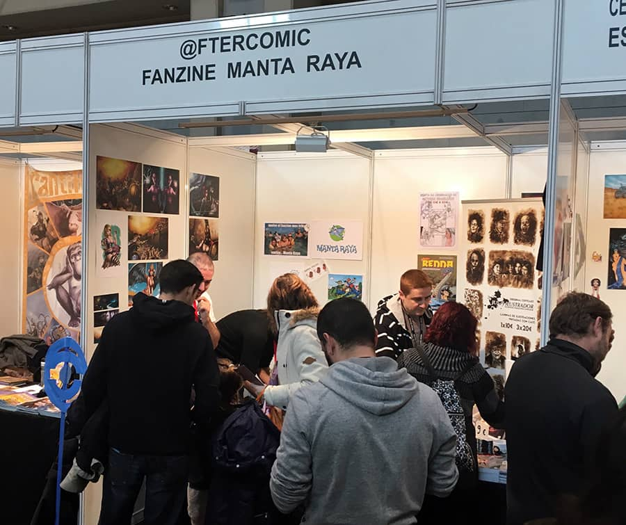 Stand de afterCOMIC en el Salón de Zaragoza