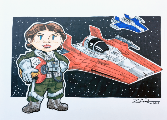 Tallie from The Last Jedi