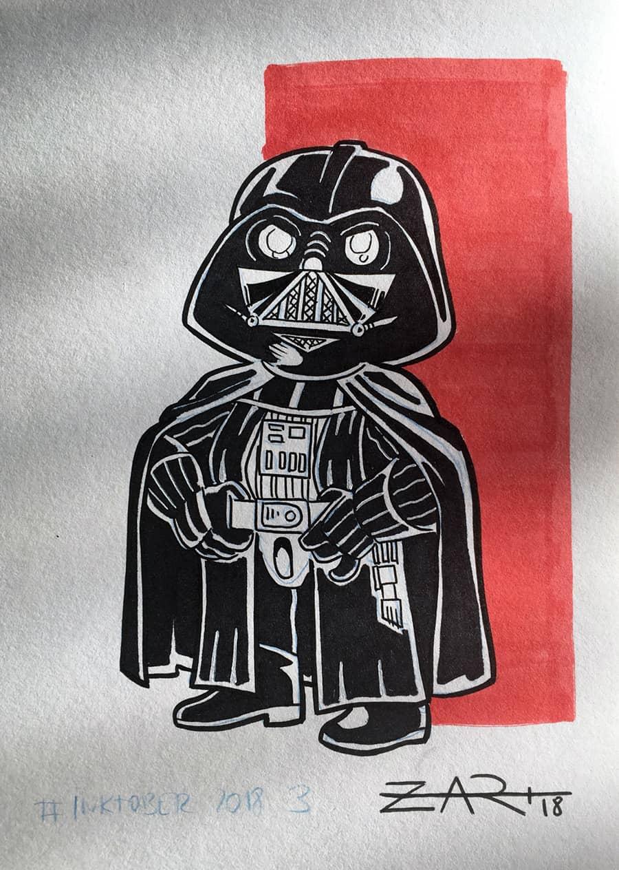 Inktober Darth Vader
