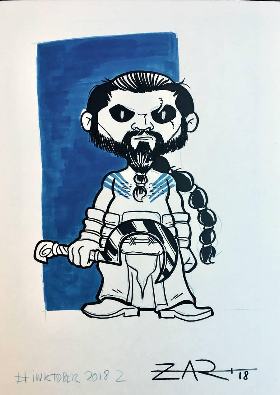 Inktober Khal Drogo - Juego de tronos