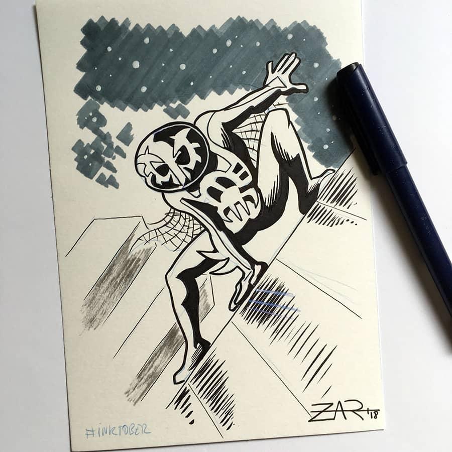 Inktober Spiderman 2099