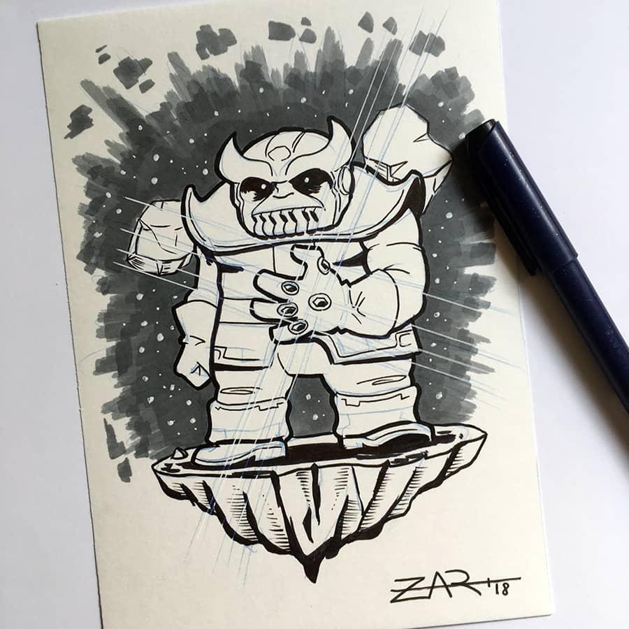 Inktober Thanos