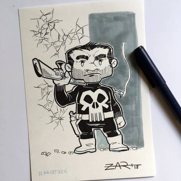 Inktober The Punisher