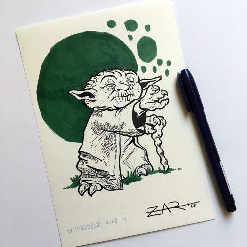 Inktober Yoda
