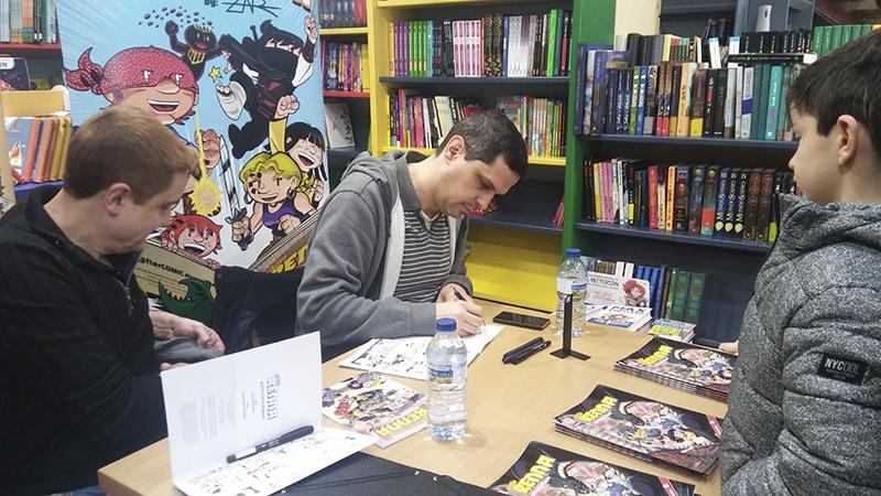 Presentación de Little Renna y Tamy y Drax en Huesca en la librería Más de Libros