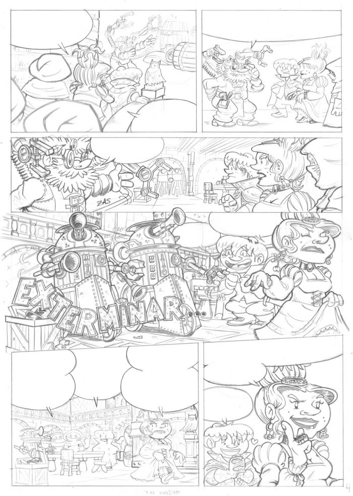 Página 4: Exterminadores a cuerda - Original a lápiz